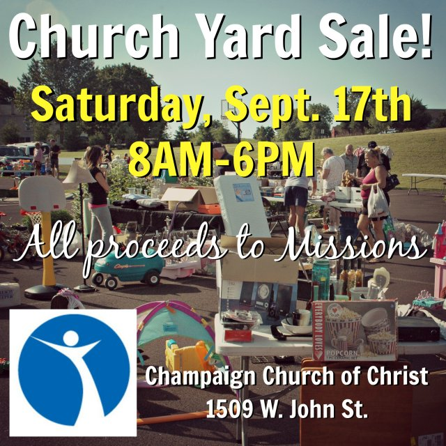 Huge Yard Sale: ALL Proceeds Donated